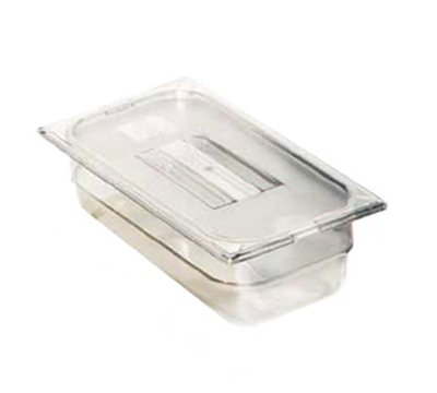 "Carlisle 1028007 1/4 Size Food Pan - 2-1/2""D, Black"