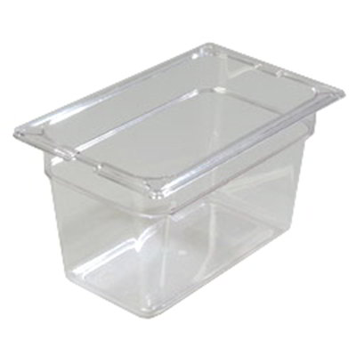 "Carlisle 1028207 1/4 Size Food Pan - 6""D, Clear"