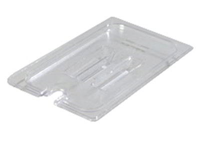 Carlisle 1029107 1/4 Size Food Pan Lid - Notched, Clear
