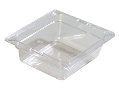 "Carlisle 1030003 1/6 Size Food Pan - 2-1/2""D, Black"