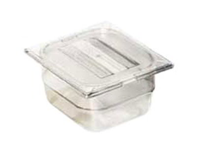 "Carlisle 10300-807 1/6 Size Food Pan - 2-1/2""D, (3/Pk) Clear"