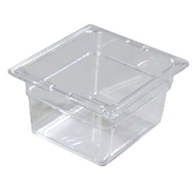 "Carlisle 10301-807 1/6 Size Food Pan - 4""D, (3/Pk) Clear"