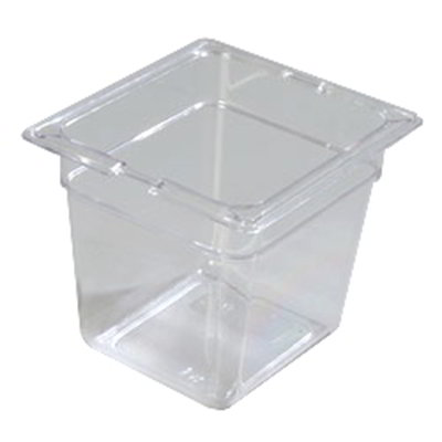 "Carlisle 1030207 1/6 Size Food Pan - 6""D, Clear"