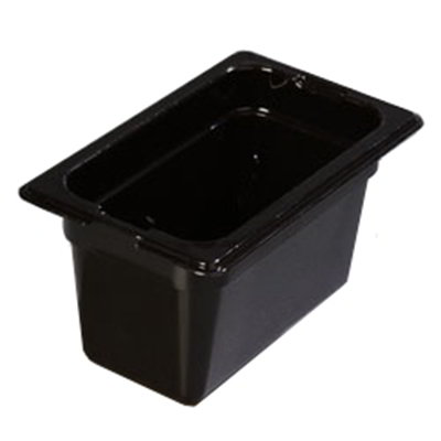 "Carlisle 1032103 1/9 Size Food Pan - 4""D, Black"
