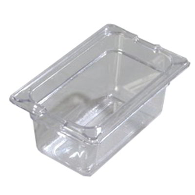 "Carlisle 1032107 1/9 Size Food Pan - 4""D, Clear"