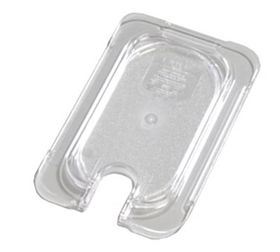 Carlisle 10337U07 Universal 1/9 Size Food Pan Lid - Flat, Notched, Clear