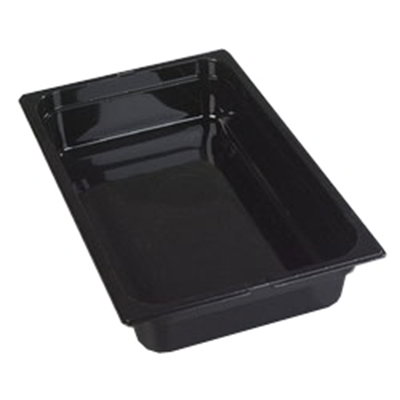 "Carlisle 1040103 High Heat Full Size Food Pan - 4""D, Black"