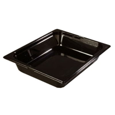 "Carlisle 1042003 High Heat Half Size Food Pan - 2-1/2""D, Black"