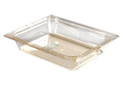 "Carlisle 10420-813 High Heat Half Size Food Pan - 2-1/2""D, (3/Pk) Amber"