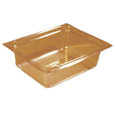 "Carlisle 1042113 High Heat Half Size Food Pan - 4""D, Amber"