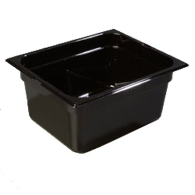 "Carlisle 1042203 High Heat Half Size Food Pan - 6""D, Black"