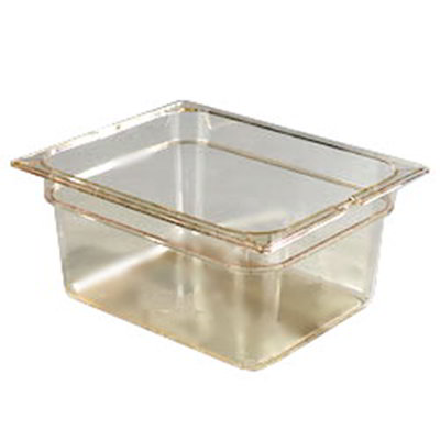 "Carlisle 10422-813 High Heat Half Size Food Pan - 6""D, (3/Pk) Amber"