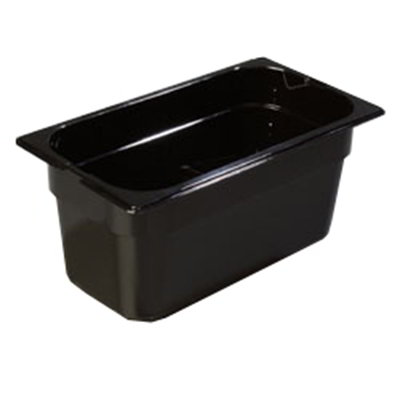 "Carlisle 1046203 High Heat 1/3 Size Food Pan - 6""D, Black"