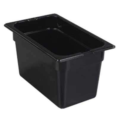 "Carlisle 1048203 High Heat 1/4 Size Food Pan - 6""D, Black"