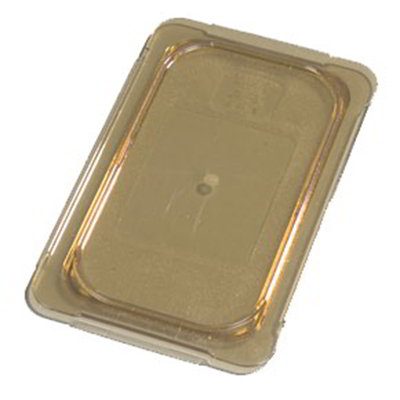 Carlisle 10496U13 Universal 1/4 Size High Heat Food Pan Lid - Flat, Amber