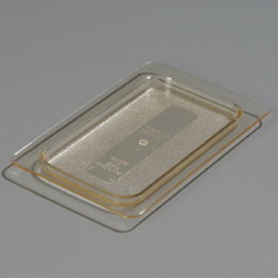 Carlisle 1053013 High Heat 1/9 Size Food Pan Lid - Amber
