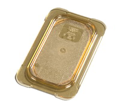 Carlisle 10536U13 Universal 1/9 Size High Heat Food Pan Lid - Flat, Amber