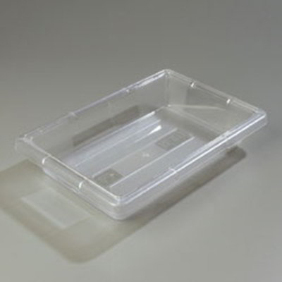 "Carlisle 1061007 2-gal Food Storage Box - 18x12x3-1/2"" Clear"