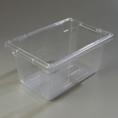 "Carlisle 1061207 5-gal Food Storage Box - 18x12x9"" Clear"