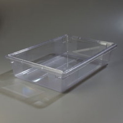 "Carlisle 1062107 8-1/2-gal Food Storage Box - 26x18x6"" Clear"