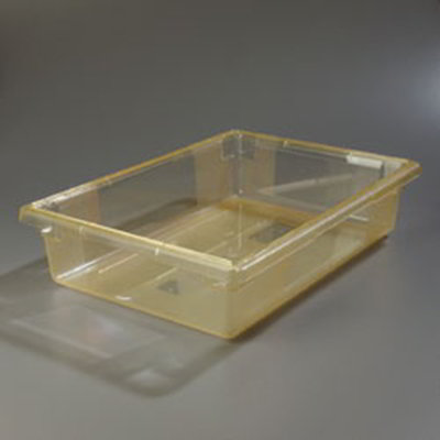 "Carlisle 10621C22 8-1/2-gal Food Storage Box - 26x18x6"" Yellow"