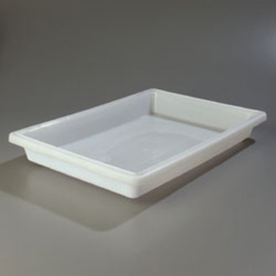 "Carlisle 1064002 5-gal Food Storage Box - 26x18x3-1/2"" White"