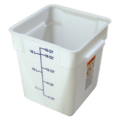 Carlisle 1073502 18-qt Square Food Storage