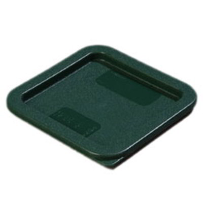 Carlisle 1074008 2-4-qt Square Food Storage Lid - Forest Green