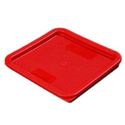 Carlisle 1074105 6/8-qt Square Food Storage Lid - Red