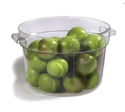 Carlisle 1076707 12-qt Round Container - Clear