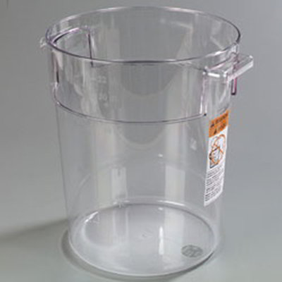 Carlisle 1076907 22-qt Round Container - Clear