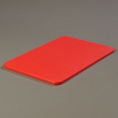 Carlisle 1088205 Polyethylene Cutting Board, 12 x 18 x 1/2-in, NSF, Red