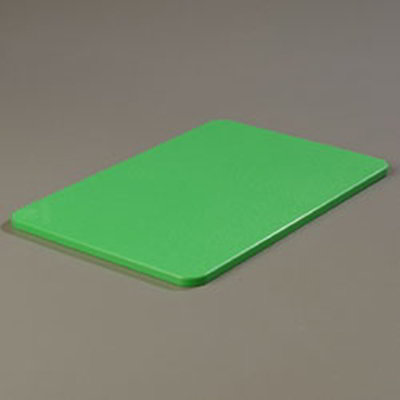 "Carlisle 1088209 Poly Cutting Board - 12x18x1/2"" Green"