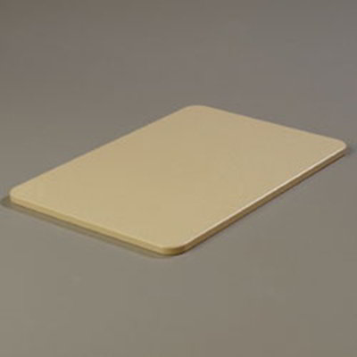 "Carlisle 1088225 Poly Cutting Board - 12x18x1/2"" Tan"