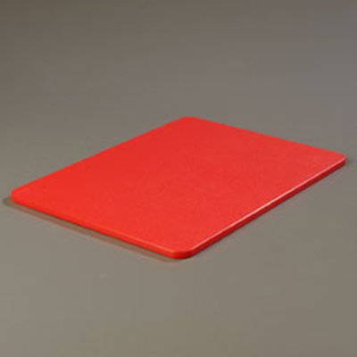 "Carlisle 1088505 Poly Cutting Board - 15x20x1/2"" Red"