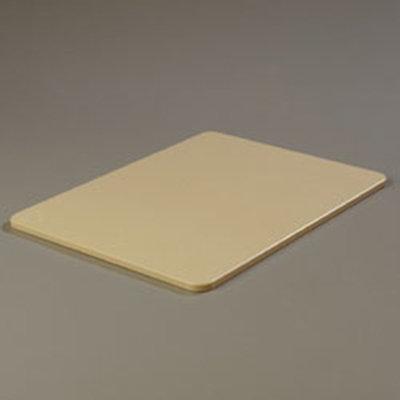 """Carlisle 1088525 Poly Cutting Board - 15x20x1/2"""" Tan"""