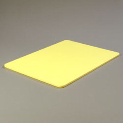 "Carlisle 1088804 Poly Cutting Board - 18x24x1/2"" Yellow"