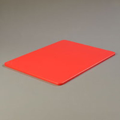 "Carlisle 1088805 Poly Cutting Board - 18x24x1/2"" Red"