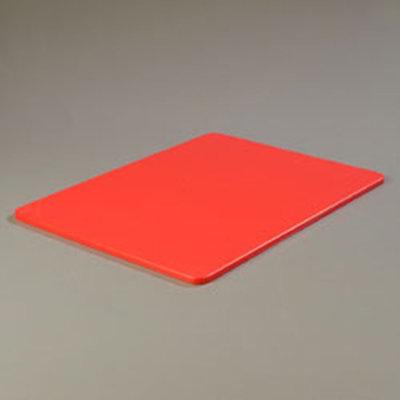 """Carlisle 1088805 Poly Cutting Board - 18x24x1/2"""" Red"""