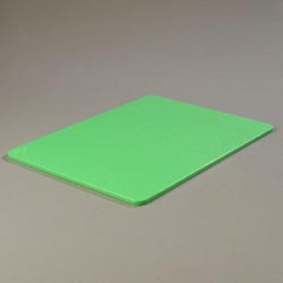 """Carlisle 1088809 Poly Cutting Board - 18x24x1/2"""" Green"""