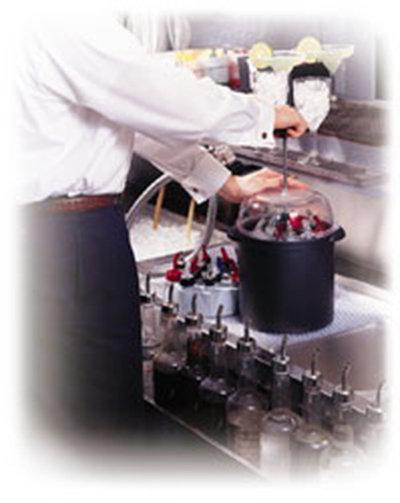 Carlisle 1100003 Liquor Pourer Cleaning System - Black