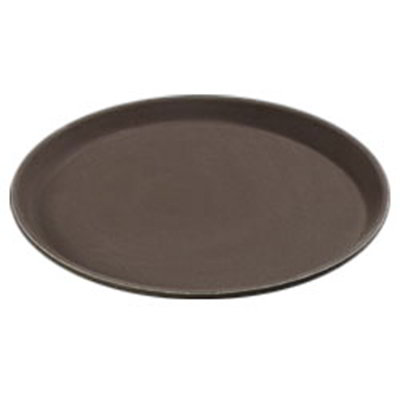 "Carlisle 1100GR076 11"" Round Serving Tray - Tan"