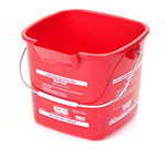 3-qt Square Sanitizing Pail - Red