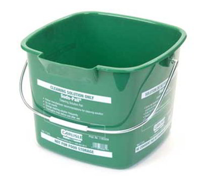 Carlisle 1183309 8-qt Square Cleaning Pail - Green