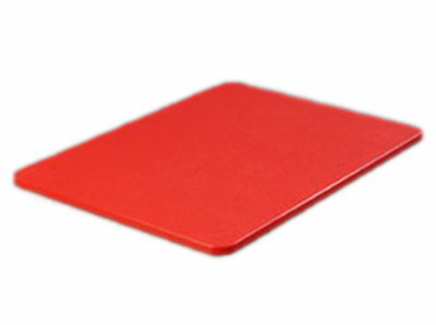 "Carlisle 1289205 Poly Cutting Board - 18x24x3/4"" Red"