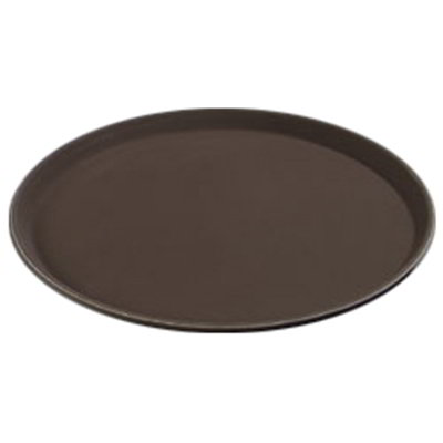 "Carlisle 1400GR076 14"" Round Serving Tray - Tan"