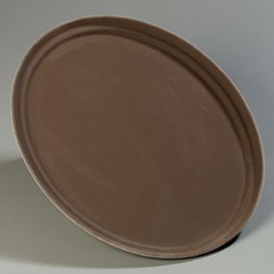 "Carlisle 2500GR076 Oval Serving Tray - 24x19-1/4"" Tan"