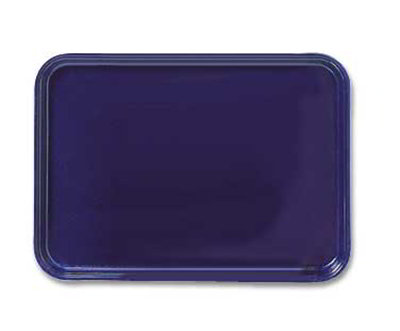 "Carlisle 1318FG006 Rectangular Display/Bakery Tray - 12-3/4x17-3/4x1"" Ultramarine"