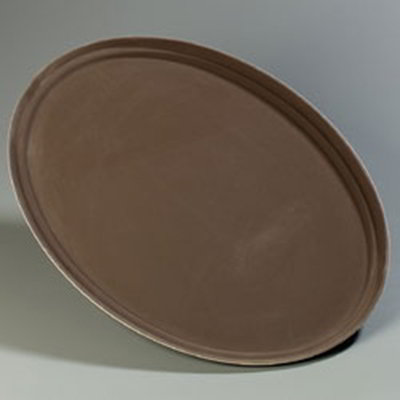 "Carlisle 3100GR076 Oval Serving Tray - 31-1/2x23-1/2"" Tan"