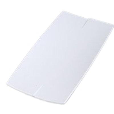 """Carlisle 3332002 Rectangular Rave Platter - 10x5"""" Melamine, White"""